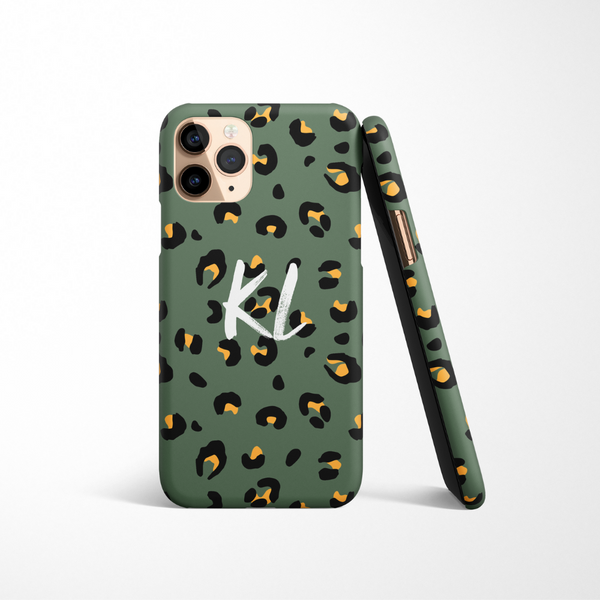 Personalised Phone Case - Khaki Leopard