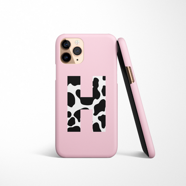 Personalised Phone Case - Cow Initial