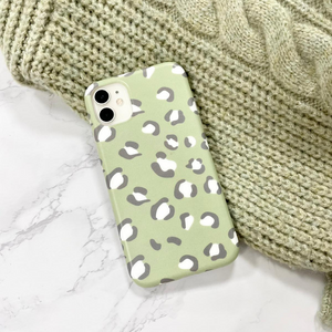 Sage Leopard Phone Case