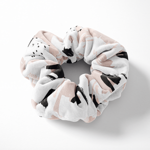 Nude Abstract Scrunchie on white background