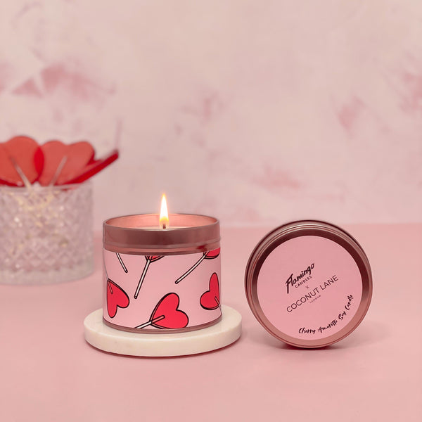 Candy Hearts Candle - Cherry Amaretto