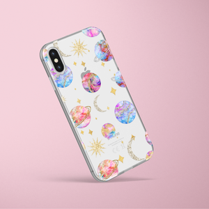 Clear Phone Case - Pastel Planets