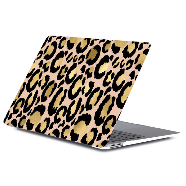 Gold Leopard Macbook Case