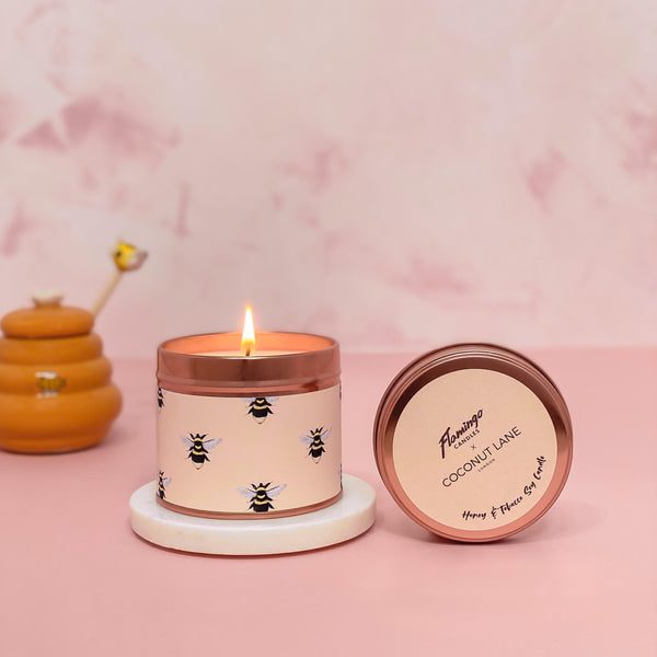 Honey Bee Candle - Honey & Tobacco