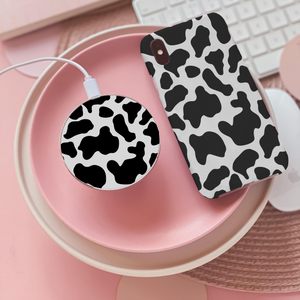cow print wireless charger