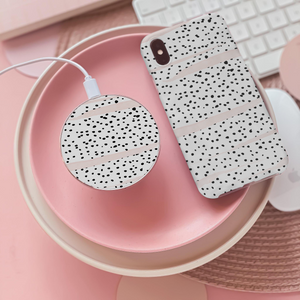 dalmatian print wireless charger
