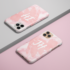 Personalised Phone Case - Pink Marble