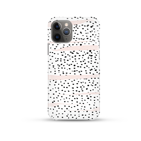Coconut Lanes Dalmatian Phone Case on a white background