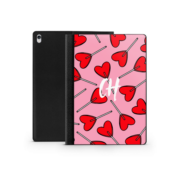 Personalised Ipad Case - Candy Hearts