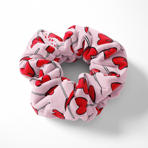Candy Hearts Scrunchie