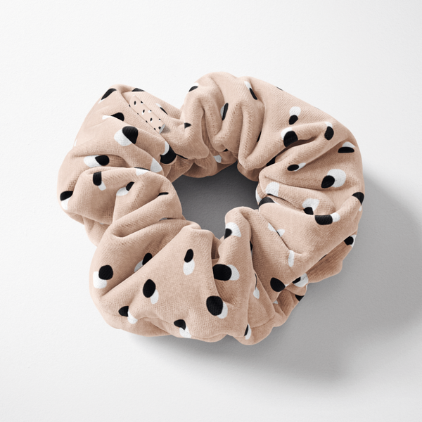 Coconut Lane's Nude Spots Scrunchie