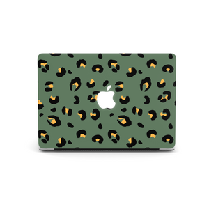 Khaki Leopard MacBook Skin
