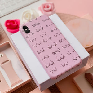 pink boobs phone case