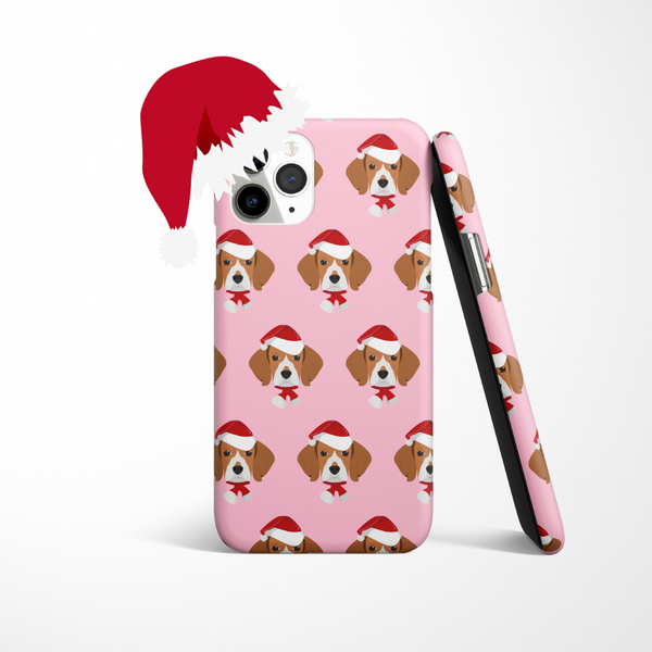 Personalised Christmas Dog Phone Case - Choose Your Breed