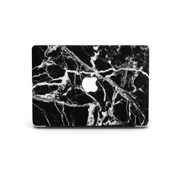Coconut Lane's Black Marble Macbook Skin