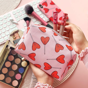Candy Hearts Make Up Bag