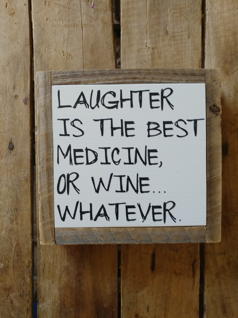 Or wine, whatever. . .