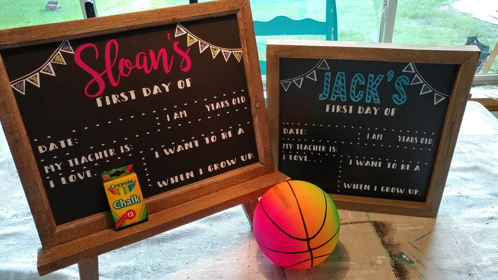 First Day of School Reusable and Customizable Chalkboard