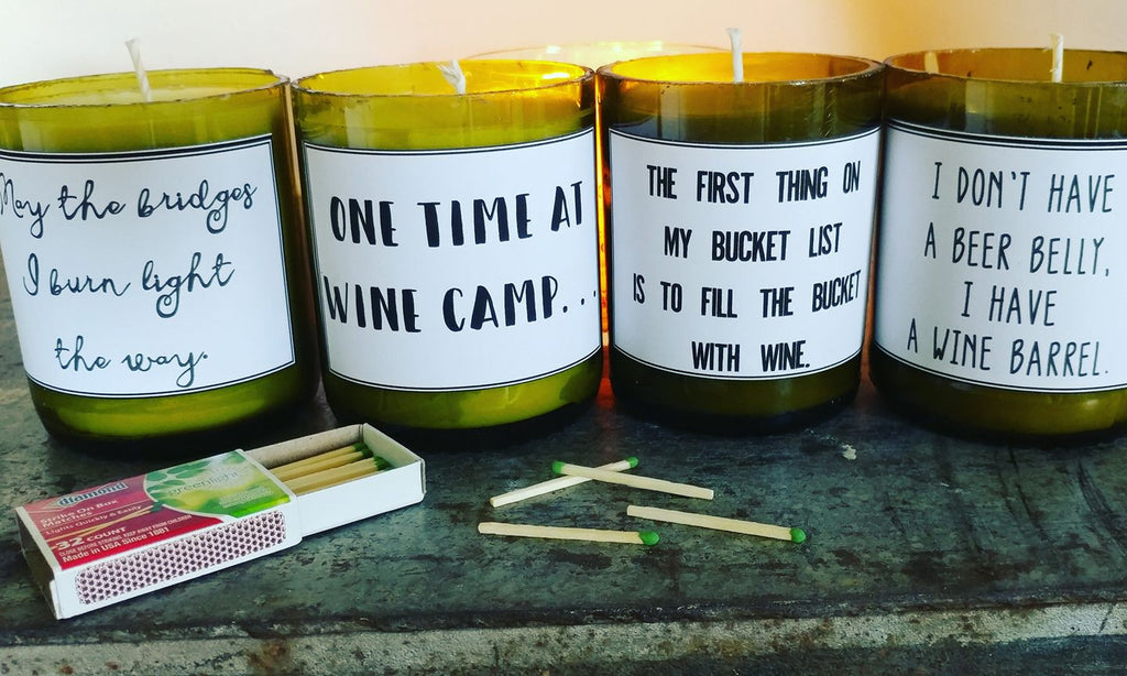 Don't Bug Me Soy Citronella Wine Candle