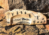 Victor Begay's Rock Art captures the flavor of the Southwest and is customized for Crow Canyon Archaeological Center