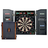 Premium Electronic Soft Tip Dartboard With In-Built Cabinet