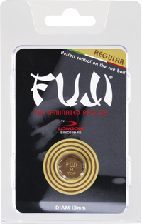 Fuji Cue Tip - Laminated Regular Leather Medium - 14mm