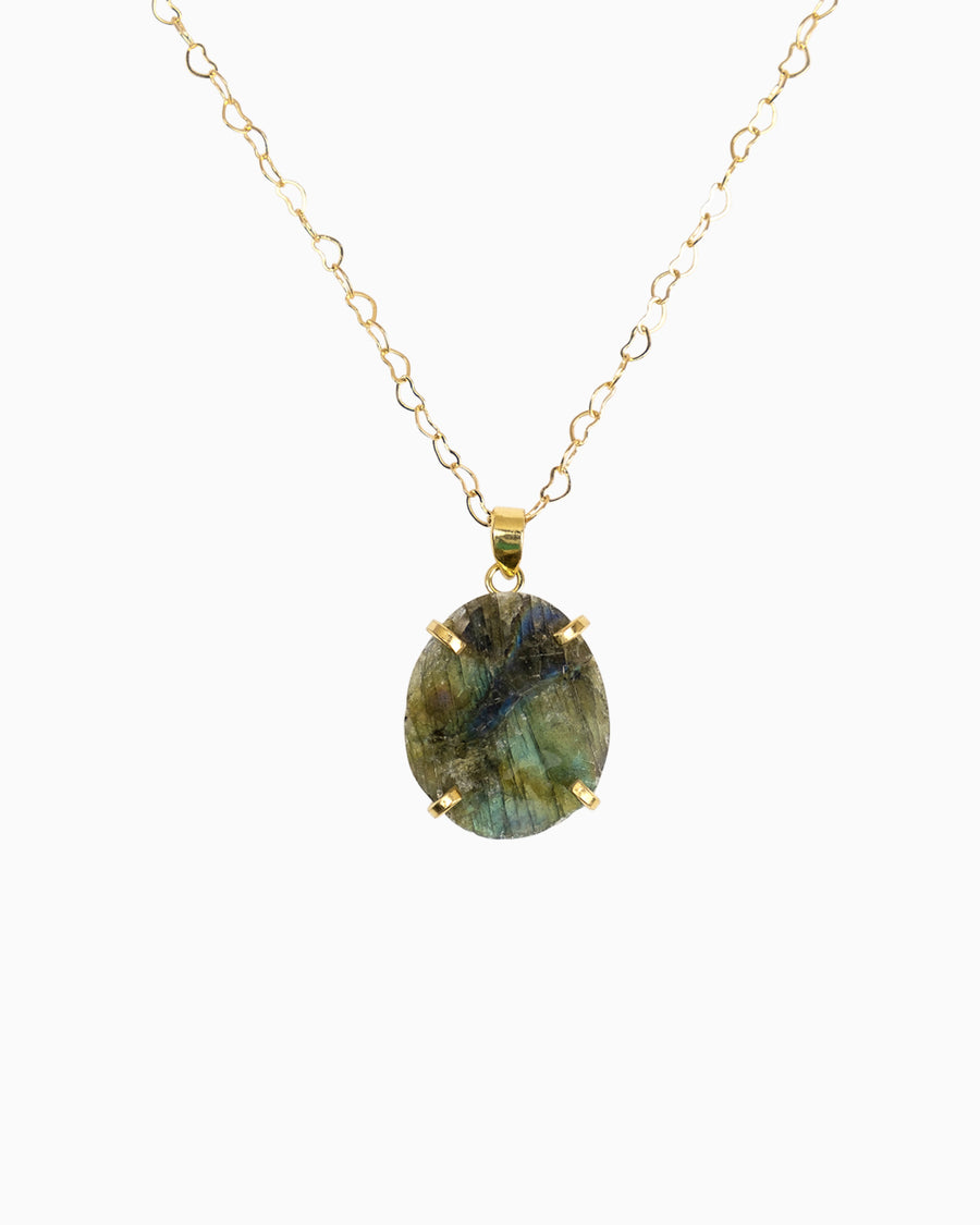 Spirit Labradorite Gemstone Mini Necklace
