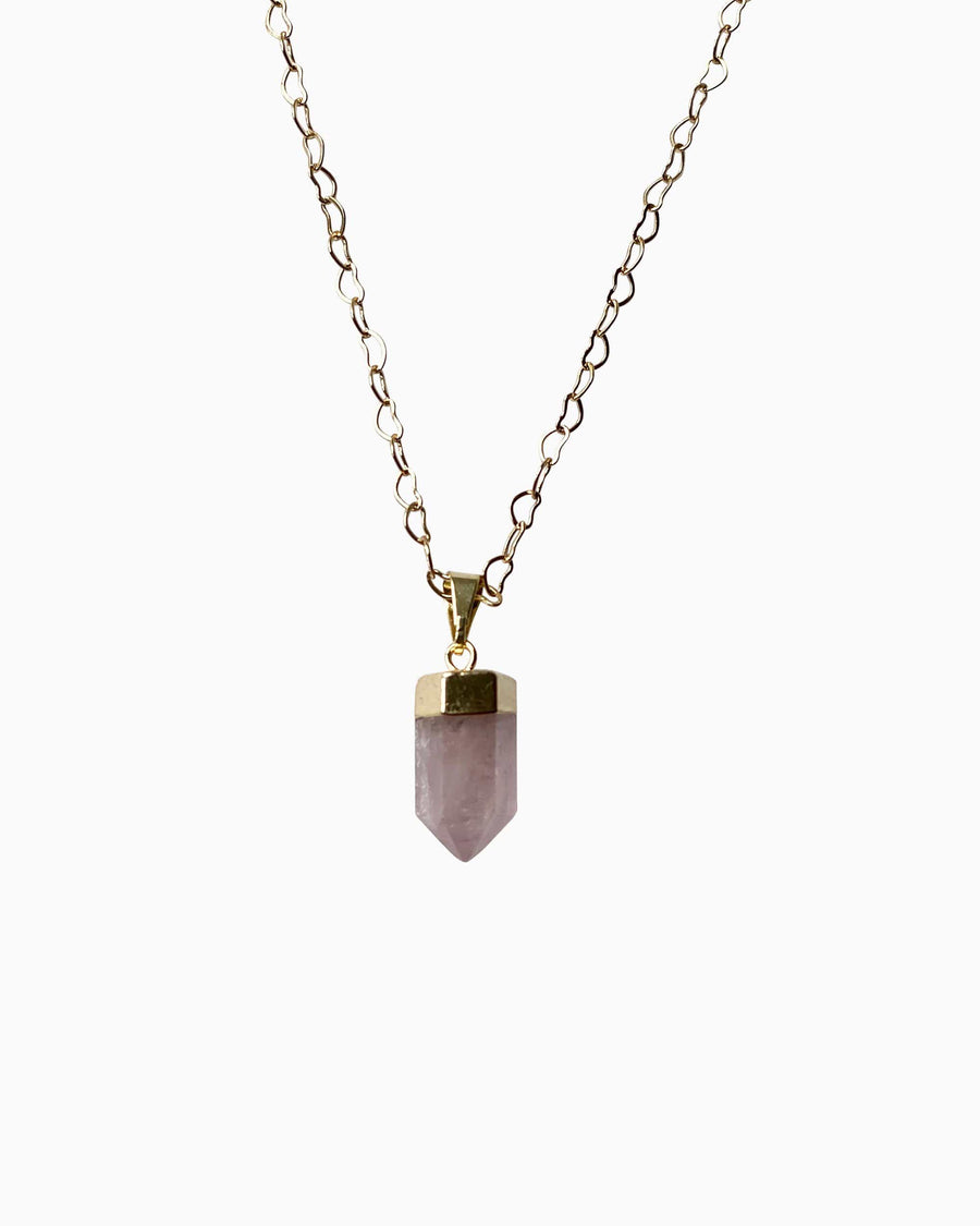 Love Yourself Rose Quartz Point Necklace - Tiana Jewel
