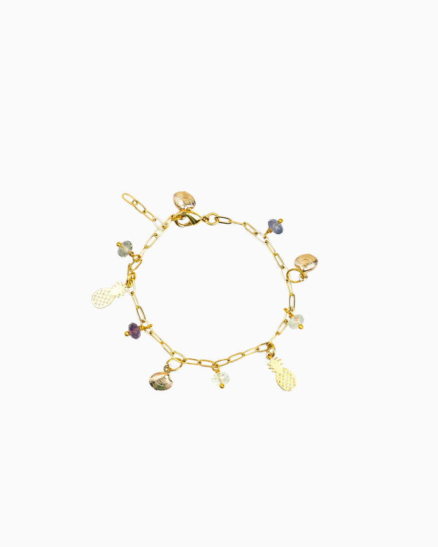 Tilly's Angels Labradorite Gemstone Charm Bracelet