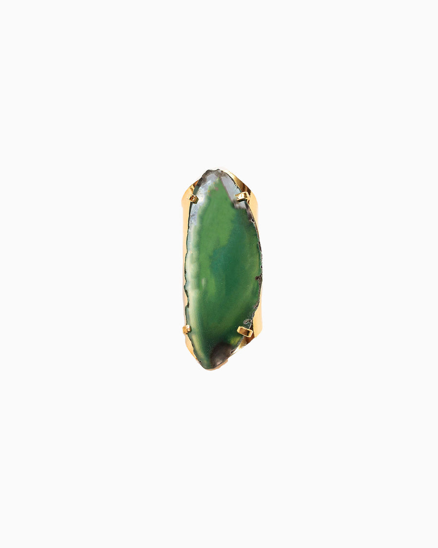 Guardian Angel Sea Green Agate Gemstone Ring - Tiana Jewel