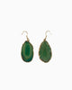 Guardian Angel Green Agate Earrings Gold - Tiana Jewel