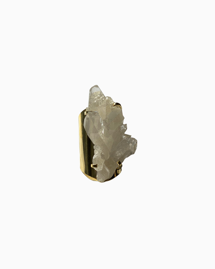 Cleanse Clear Quartz Cluster Ring - Tiana Jewel