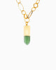 Zest for Life Green Quartz Bullet Point Necklace - Tiana Jewel