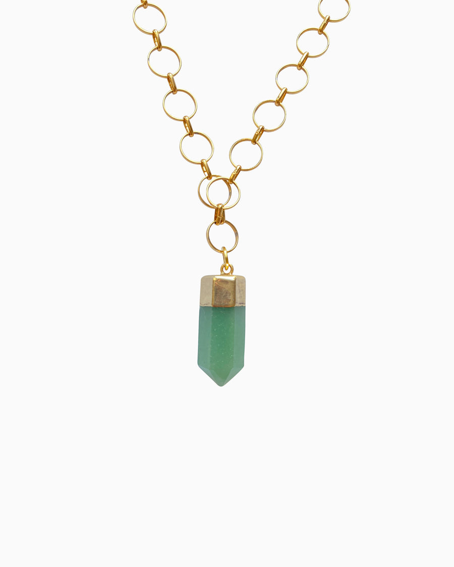 Revive Green Quartz Point Necklace