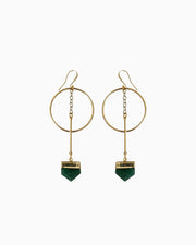 Life Force Green Quartz Hoop Earrings - Tiana Jewel