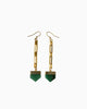 Zest for Life Green Quartz Vintage Chain Earrings - Tiana Jewel