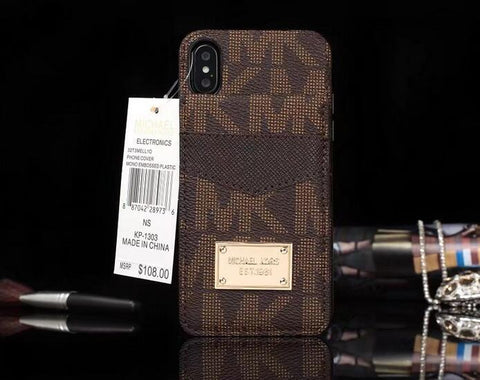 premium selection b9215 e33cf Michael Kors MK iPhone X,6/6s,6Plus/6sPlus,7/7 Plus,8/8 Plus leather ...