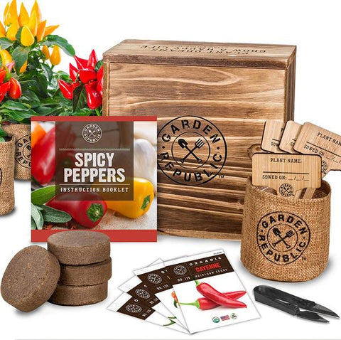 Garden Republic Spicy Pepper Kit