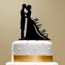 Classy Romantic Wedding Cake Topper High Quality Acrylic Bride & Groom Silhouette