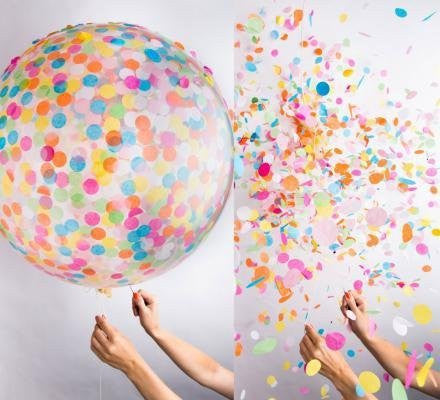 Confetti Balloons for Wedding, 5 PCs