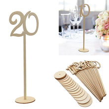 20pcs 1-20 Wooden Table Numbers with Holder Base for Wedding Tables