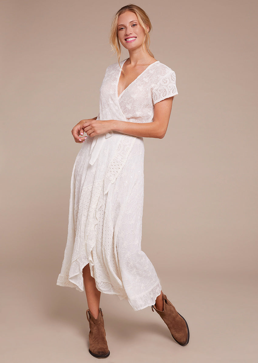 Paradise Wrap White Dress