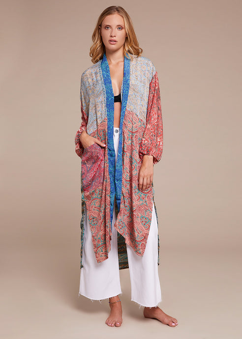Silk Long Cardigan 2