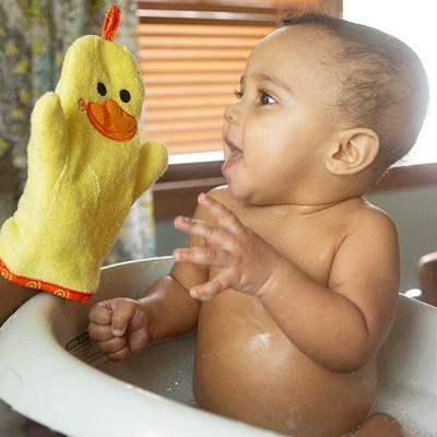 Puddles the Duck Bath Mitt