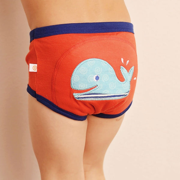 BOYS 3 PIECE ORGANIC POTTY TRAINING PANTS SET - OCEAN FRIENDS - 3T/4T
