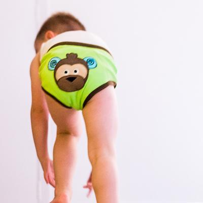 BOYS 3 PIECE ORGANIC POTTY TRAINING PANTS SET - SAFARI FRIENDS - 3T/4T