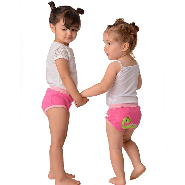 GIRLS 3 PIECE ORGANIC POTTY TRAINING PANTS SET - FAIRY TAILS - 3T/4T