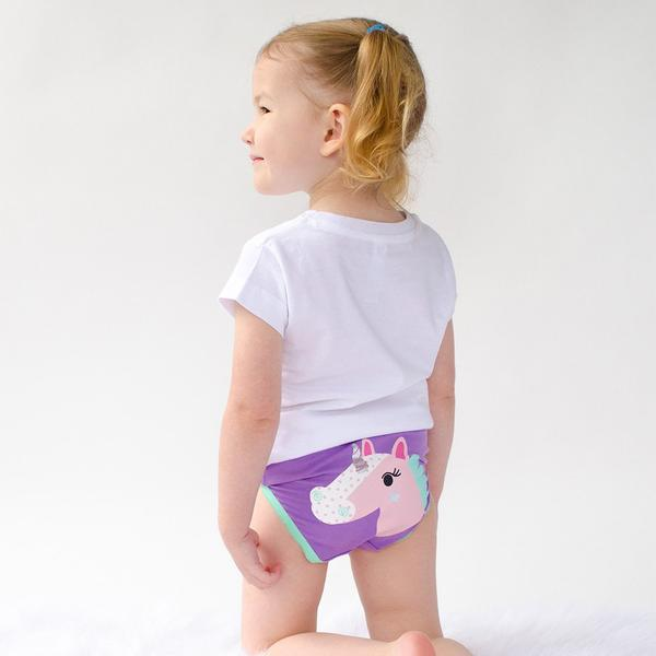 GIRLS 3 PIECE ORGANIC PANTY SET - ENCHANTED FOREST - 5/6Y