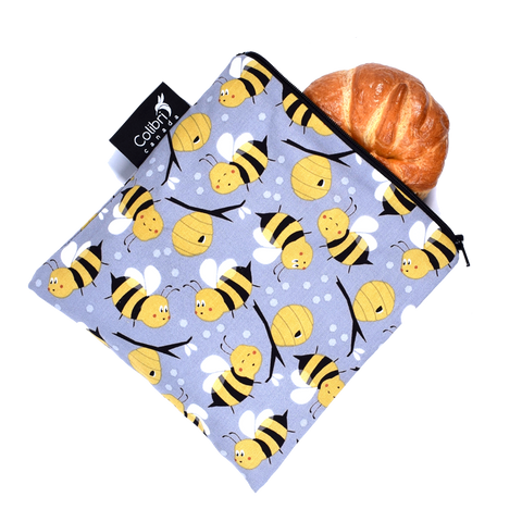 Bumble Bees - Reusable Snack Bag - Large