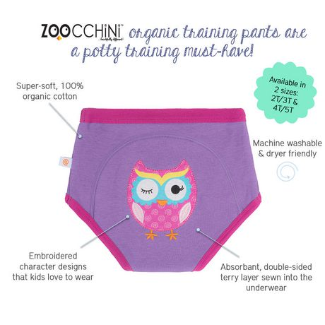 Olive the Owl Organic Training Pants 3T/4T